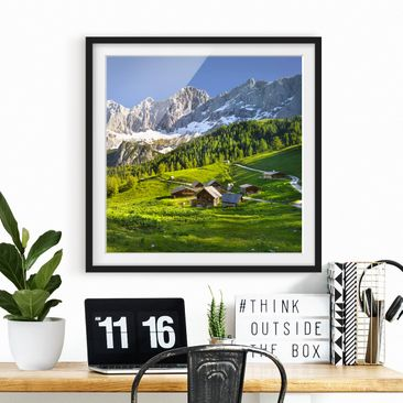 Product picture Framed print - Styria Alpine Meadow -...