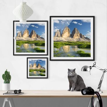 Product picture Framed print - South Tyrolean Zinnen And...