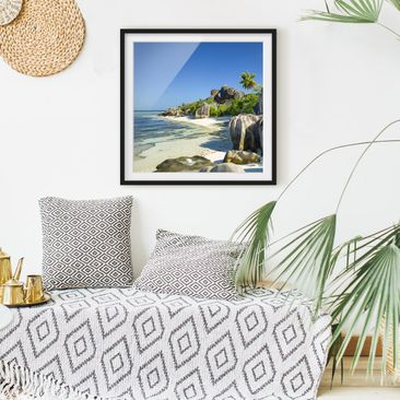 Product picture Framed print - Dream Beach Seychelles -...