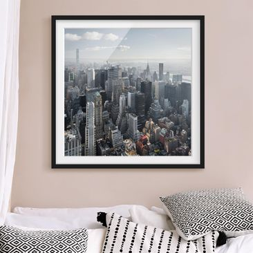 Product picture Framed print - Upper Manhattan New York...