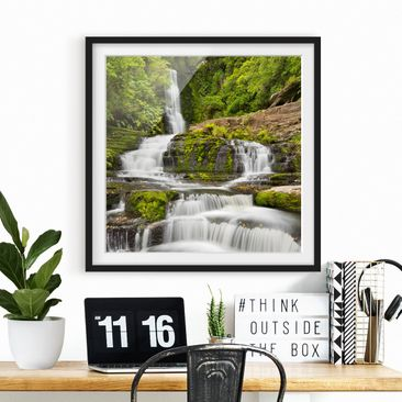 Product picture Framed print - Upper Mclean Falls In New...