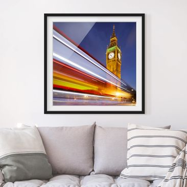 Produktfoto Framed print - Traffic In London At Big...