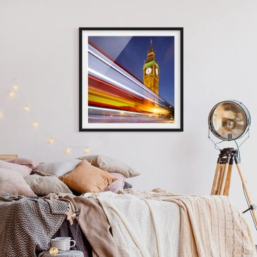 Product picture Framed print - Traffic In London At Big...