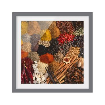 Product picture Framed print - Exotic Spices - Square...