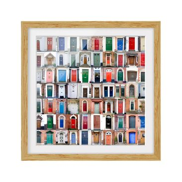 Product picture Framed print - 100 Doors - Square Format...