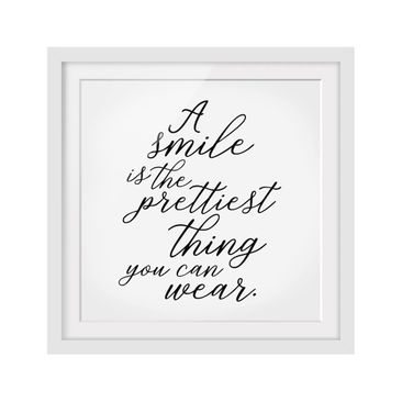 Product picture Framed print - A Smile Is The Prettiest...