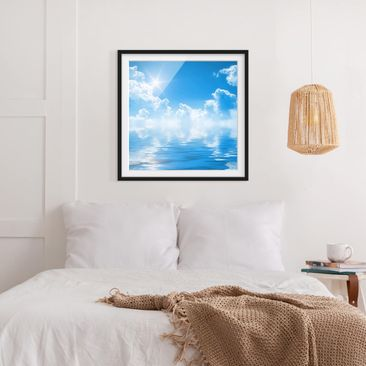 Product picture Framed print - Above Sea Level - Square...