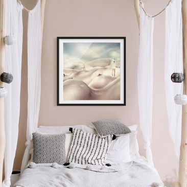 Product picture Framed print - Landscape With Nude...