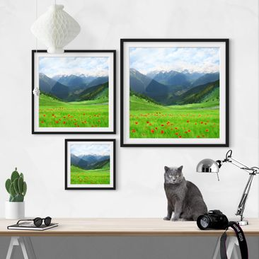 Product picture Framed print - Alpine Meadow - Square...