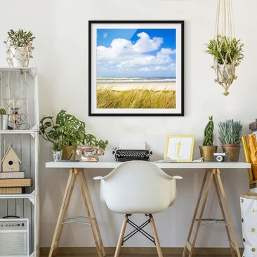 Product picture Framed print - At The North Sea Coast -...