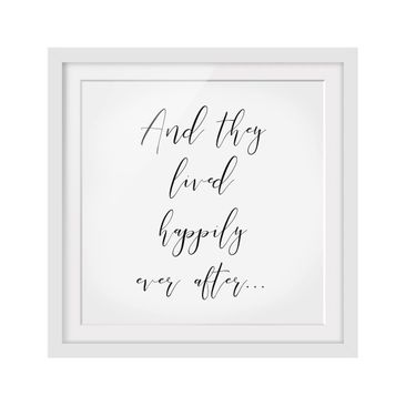Product picture Framed print - And They Lived Happily...
