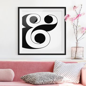 Product picture Framed print - Antiqua Letter & - Square...