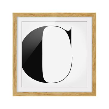 Product picture Framed print - Antiqua Letter C - Square...