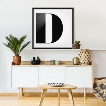 Product picture Framed print - Antiqua Letter D - Square...