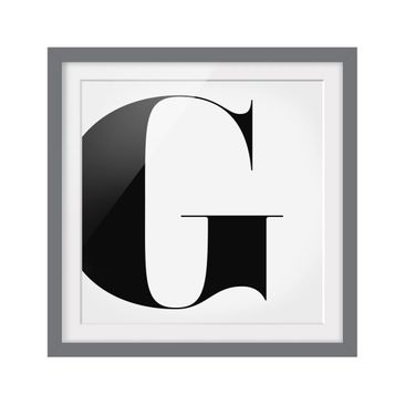 Product picture Framed print - Antiqua Letter G - Square...