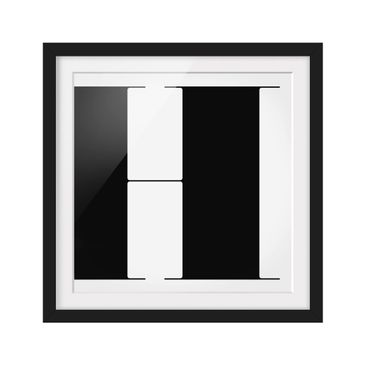 Product picture Framed print - Antiqua Letter H - Square...