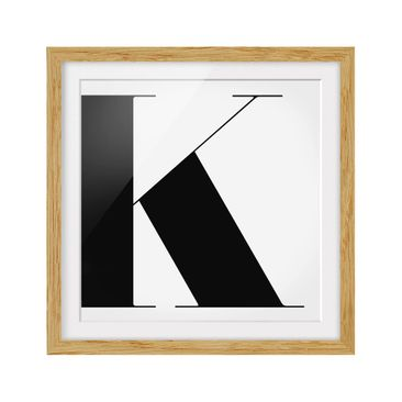 Product picture Framed print - Antiqua Letter K - Square...