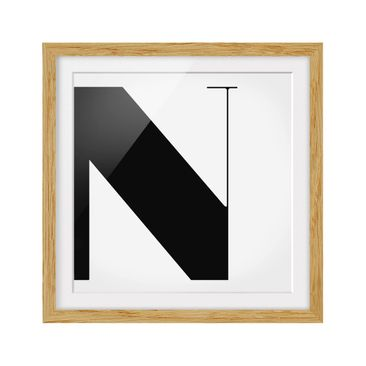 Product picture Framed print - Antiqua Letter N - Square...