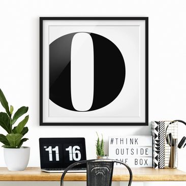 Product picture Framed print - Antiqua Letter O - Square...