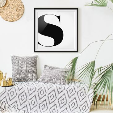 Product picture Framed print - Antiqua Letter S - Square...
