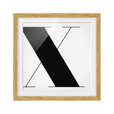 Product picture Framed print - Antiqua Letter X - Square...