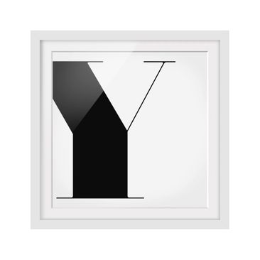 Product picture Framed print - Antiqua Letter Y - Square...