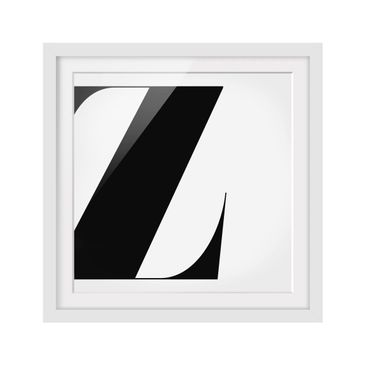 Product picture Framed print - Antiqua Letter Z - Square...