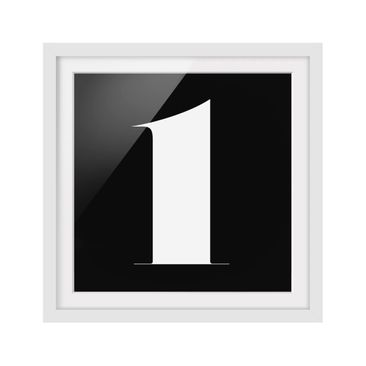 Product picture Framed print - Antiqua Number 1 - Square...