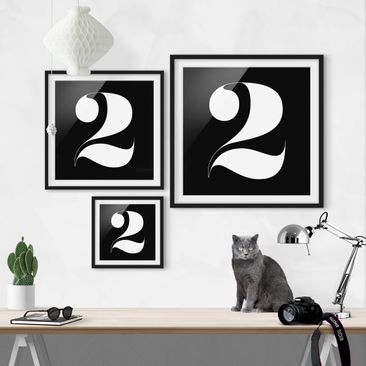 Product picture Framed print - Antiqua Number 2 - Square...