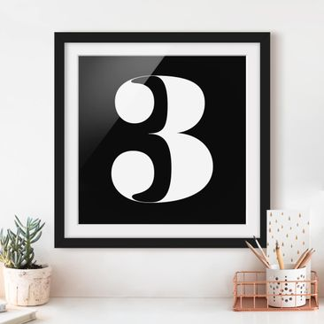 Product picture Framed print - Antiqua Number 3 - Square...