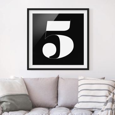 Product picture Framed print - Antiqua Number 5 - Square...