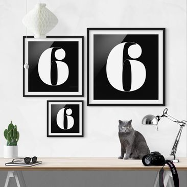 Product picture Framed print - Antiqua Number 6 - Square...