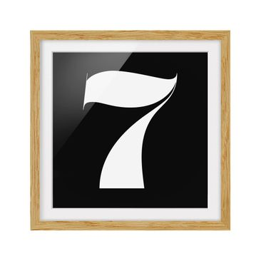 Product picture Framed print - Roman Numeral 7 - Square...