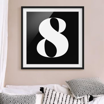 Product picture Framed print - Antiqua Number 8 - Square...