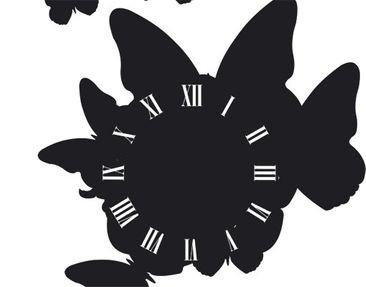 Product picture Wall Decal Clock no.CG181 Butterfly...