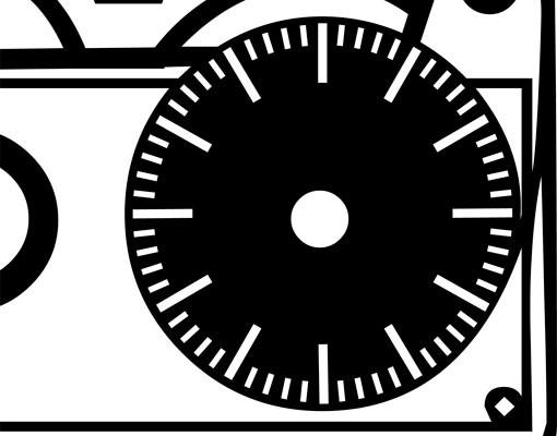 Produktfoto Wandtattoo Uhr No.CG183 Kassette
