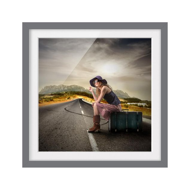 Produktfoto Bild mit Rahmen - On the Road - Quadrat 1:1