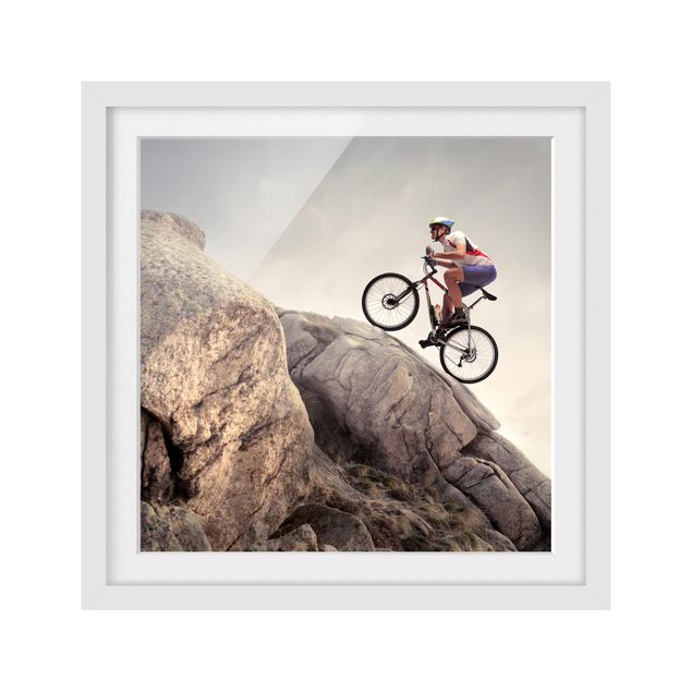 Produktfoto Bild mit Rahmen - Riding up that hill - Quadrat 1:1