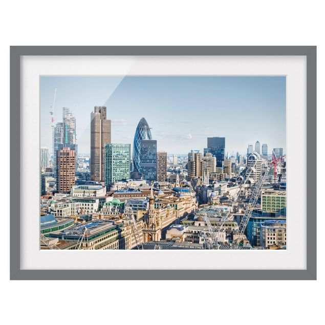 Produktfoto Bild mit Rahmen - City of London - Querformat 3:4