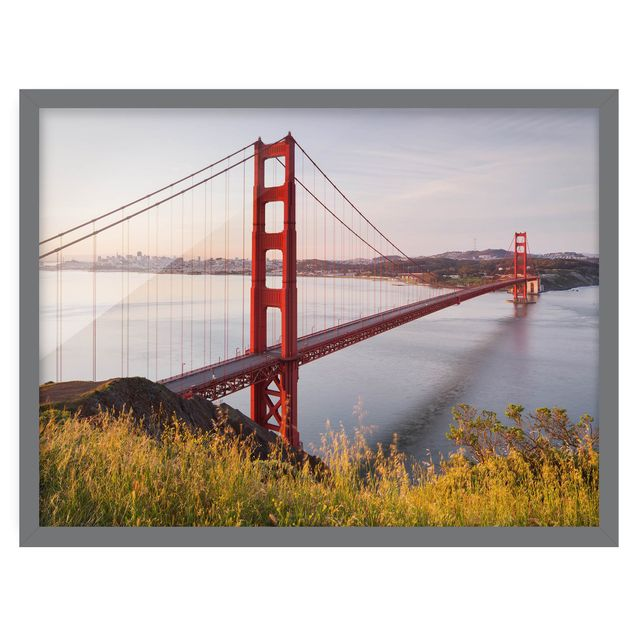 Produktfoto Bild mit Rahmen - Golden Gate Bridge in San Francisco - Querformat 3:4