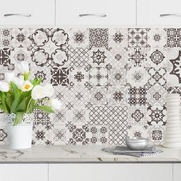 Produktfoto Küchenrückwand - Keramikfliesen Agadir grau vergrößerte Ansicht in Wohnambiente Artikelnummer232281-XWA