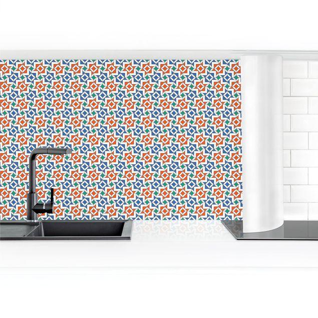 Produktfoto Küchenrückwand - Alhambra Mosaik mit Fliesenoptik selbstklebend mit hochglänzender Oberfläche Artikelnummer 232300-FV