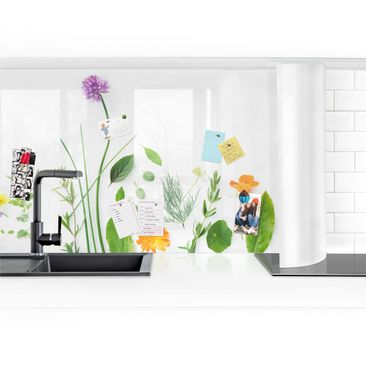 Product picture Self-adhesive splashback - Herbs And...