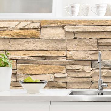 Produktfoto Küchenrückwand - Andalusia Stonewall, selbstklebend mit hochglänzender Öberfläche, Artikelnummer 232308-FV