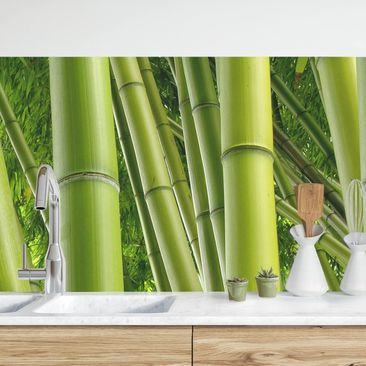 Product picture Self-adhesive splashback - Bamboo Trees...