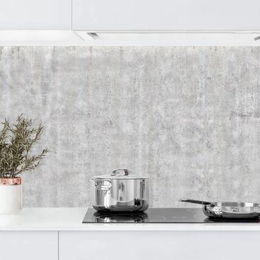 Produktfoto Küchenrückwand - Große Wand mit Betonlook, selbstklebend mit hochglänzender Öberfläche, Artikelnummer 232385-FV