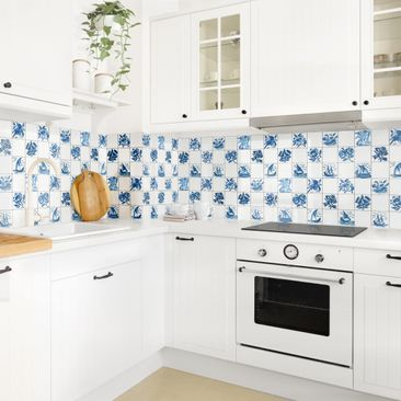 Product picture Self-adhesive splashback - Hand-Painted...