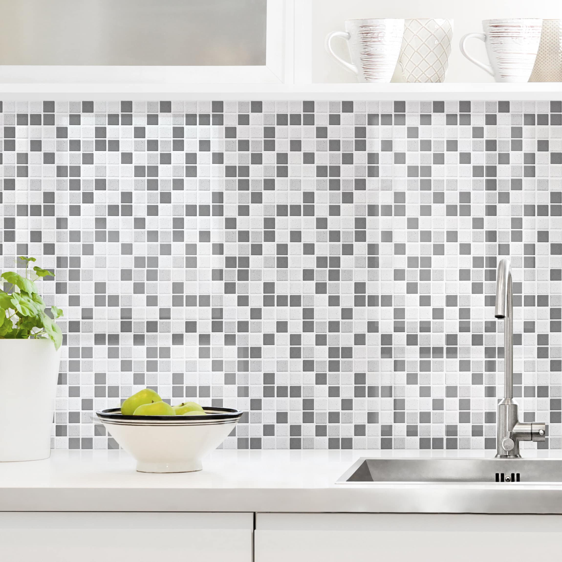 Rivestimento cucina - Mosaici grigio