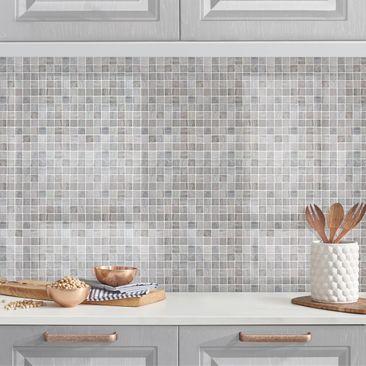 Produktfoto Küchenrückwand - Mosaikfliesen Marmoroptik, selbstklebend mit hochglänzender Öberfläche, Artikelnummer 232422-FV