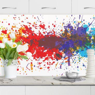 Produktfoto Küchenrückwand - Rainbow Splatter I vergrößerte Ansicht in Wohnambiente Artikelnummer232447-XWA